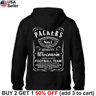 Green Bay Packers Hoodie JD Whiskey Hooded Sweat Shirt Sweatshirt Sweater GB $29.65 USD on eBay