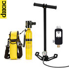 ALL IN ONE DIDEEP SCUBA Tank Diving Oxygen Reserve Air Hand Pump Dive Equipment