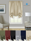 Shabby Linen Farmhouse Sheer Flax Curtain Tie Up Window Shade - Assorted Colors