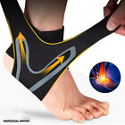 2XAnkle Brace Support Compression Sleeve Plantar Fasciitis Pain Relief Foot Wrap