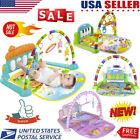 Xmas Baby Gym Floor Play Mat Musical Activity Center Kick Play W/Piano Toy Gifts