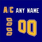 St. Louis Blues Customized Number Kit for  Blue Retro 2019-2020 Jersey $34.99 USD on eBay