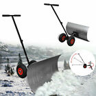 Manual Snow Shovel with Wheels Garden Lawn Plough Blade Thrower Removal