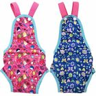 PACK 2 or 6 Female Dog Diapers Washable Reusable with Suspenders for Small Pet