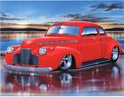 1940 Chevy Coupe Streetrod Car Art Print 11x14 Poster
