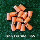 10/20/50/100pcs Tip Size .355 Orange Golf Ferrules For Taper Tip Iron and Wedge