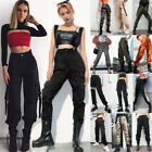 Women Punk Cargo Trousers Casual Pants Military Army Loose Hip Hop Sports Pants
