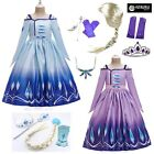 Simile Frozen Elsa 2 Vestito Carnevale Bambina Cosplay Costume Dress FROZ017 18