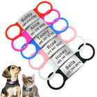Stainless Steel Slide On Dog Collar 3/4'' Wide Pet Cat Puppy ID Name Tag Collars