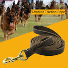 Durable Genuine Cowhide Dog Training Leash Braided Leather Walking Lead