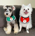 DOG Christmas Outfit Costume collar Scarf Saliva Towel Tire Clothes Gift Present