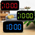 Modern LED Digital Alarm Clock Voice Control Battery Power/USB Display Home US