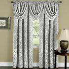 Damask Blackout Rod Pocket Window Curtains & Valances - Assorted Colors & Sizes