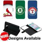 Major League Baseball Sport Team PU Leather Wallet Stand Case for Galaxy Phone on Ebay