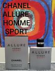 CHANEL ALLURE SPORT EDT SPRAY 1, 2, 3, 5, 7  10ML AUTHENTIC