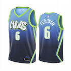 New Men's Dallas Mavericks 6# Kristaps Porzingis Basketball jersey blue on eBay