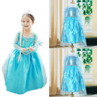 US Girls Princess Anna Elsa Fancy Dress up Costume Party Child Cosplay Fairy