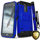 For LG Stylo 3 Case, Dual Layer Shockproof Cover+Tempered Glass Screen Protector
