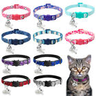 Sequins Nylon Pet Cat Breakaway Collar Personalized ID Name Tag for Puppy Kitten