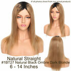100% Remy Malaysian Human Hair Wigs With Bangs Bob Straight Full Wig Black Brown