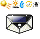 100 LED Outdoor Solar Power Motion Sensor Wall Light Waterproof Garden Yard Lamp