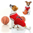 Soft Pet Dog Basketball Clothes Puppy Sport T-shirt Jacket Vest for Chihuahua