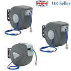 Air Compressor Automatic Retractable Air Hose Reel Garage Workshop Tool UK STOCK