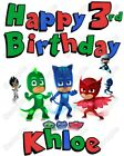 PJ Masks Birthday Personalized T Shirt Iron on Transfer #18