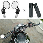 """1 Pair 7/8"""" 22mm Motorcycle Rear View Handle Bar End Side Rearview Mirrors/Grips $26.25 USD on eBay"""