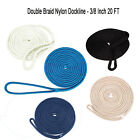 Amarine-made 3/8 Inch 20 FT Double Braided Dock line Mooring Rope Boat Marine US