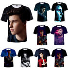 Fashion Shawn Mendes 3D Printed T-Shirt Unisex Casual Short Sleeve Tee Tops Gift
