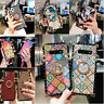 For Samsung S8 S10 NOTE10+ 9 Case Diamond /Lips Leather Square Shockproof Cover