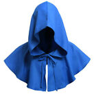 FJ- AM_ Men Women Medieval Cowl Hat Renaissance Monk Halloween Cosplay Hooded Ca