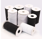 Kyпить Knitted Elastic Black & White 5/16 inch made in the USA - Same Day Free Shipping на еВаy.соm