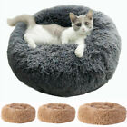 Dog Bed Soft Washable Plush Fur Removable Cushion Warm Luxury Pet Basket 60 70cm