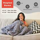 """60X80"""" 48x72'' Weighted Blanket Full Queen Size Reduce Stress 12lbs 15 20 25 lbs image"""