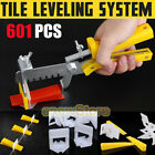 601 Pcs Tile Leveling System 400 Clips + 200 Wedges + Tool 1.5mm Floor Spacer