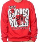 CHICAGO BULLS SWEATSHIRT.  MITCHELL & NESS.  RED on eBay