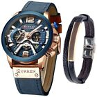 CURREN Watch Men's Chronograph Watches And Fashion Bracelet Set Reloj de Hombre