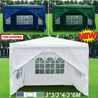 3x3m 3x6m Gazebo Marquee Outdoor Garden Folding Party Tent Canopy 4 Side Panels