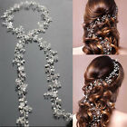 Western Wedding Bride Fashion Handmade Floral Pearl Headdress Hair Accessories