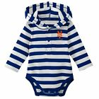 MLB New York Mets Striped Long Sleeve Baby / Toddler Hooded Bodysuit on Ebay