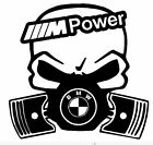 calavera bmw m power etc tuning sticker auto fun pegatinas racing