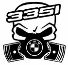 calavera bmw serie 3 335i etc tuning sticker auto fun pegatinas racing