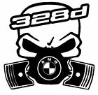 calavera bmw serie 3 328d etc tuning sticker auto fun pegatinas racing