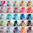 BULK 8 BIG SIZES Organza Wedding Party Favor Gift Candy Sheer Bags Jewelry Pouch