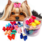 50/100pcs Dog Hair Bows with Rubber Bands Pet Grooming Bowknots Hair Accessories