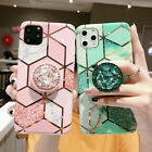 For Samsung Galaxy S20 Plus S20 Ultra S20 Marble Case with Diamond Holder Stand