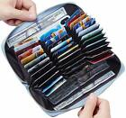 Travelambo Large Capacity Credit Card Wallet Leather RFID Wallet for Women image