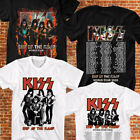 KISS Band T-shirt End Of The Road World Tour 2020 Leg 5-8 Complete Date Tee #3 image